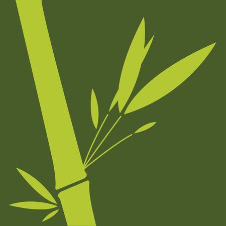 Feuille de bambou vert