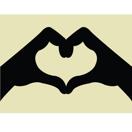 Illustration of a heart shape hand gesture