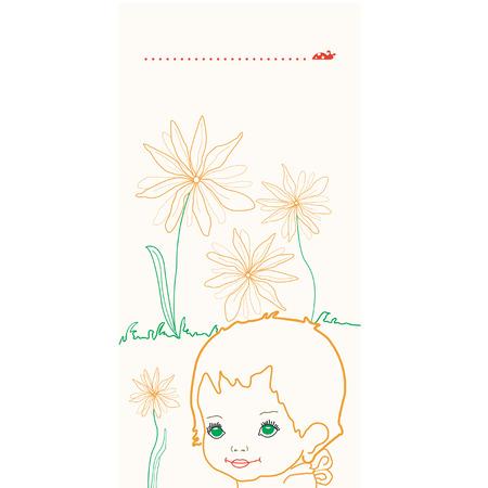 Flowers baby Vector