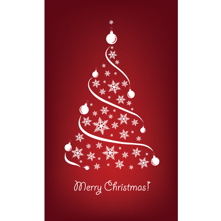 Christmas background with Christmas trees Stock Vector - 8754268