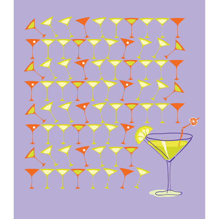 Martini with Summer Lemon.Illustration Stock Vector - 8754309