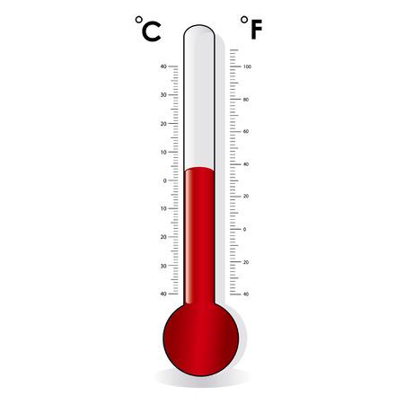 Termómetro, celsius, fahrenheit Foto de archivo - 8754328