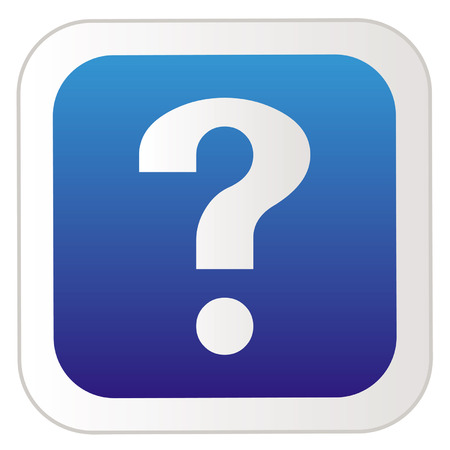 Navigation icon sticker button with question mark