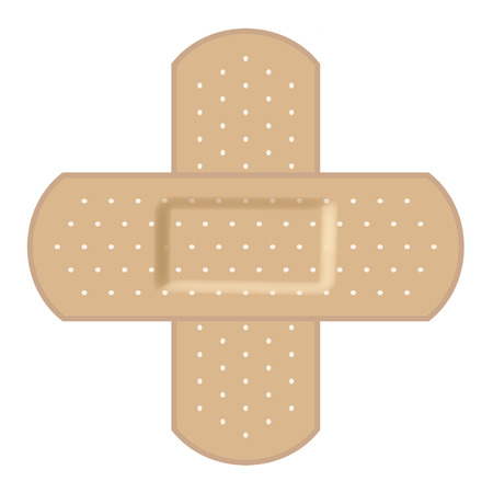 Adhesive bandages forming a cross Vector