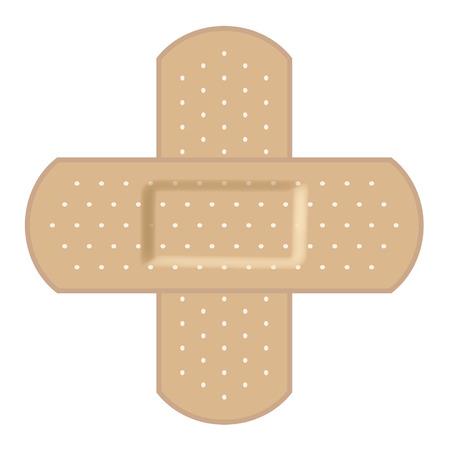Vendas adhesivas formando una Cruz