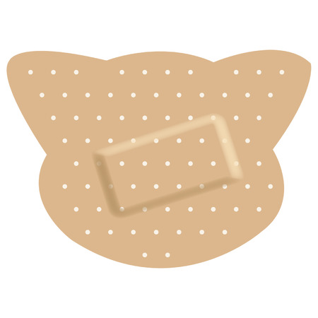 Adhesive bandages forming a cat Vector