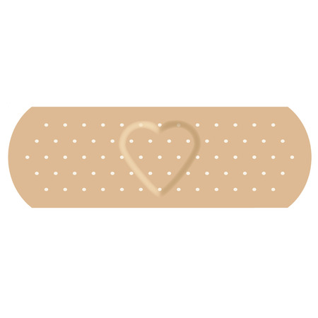 wound care: Adhesive bandage with love Illustration