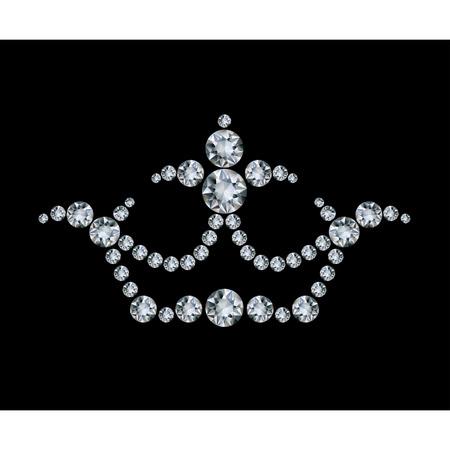 Crown and diamonds  Ilustrace
