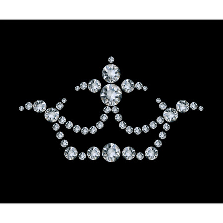 gem: Crown and diamonds  Illustration