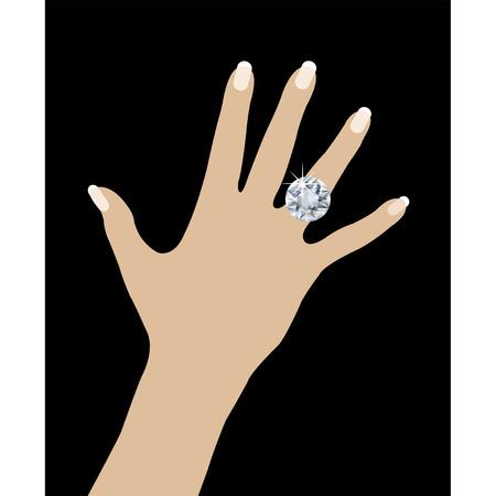 bague de fiancaille: Anneau de mariage c�t� Illustration