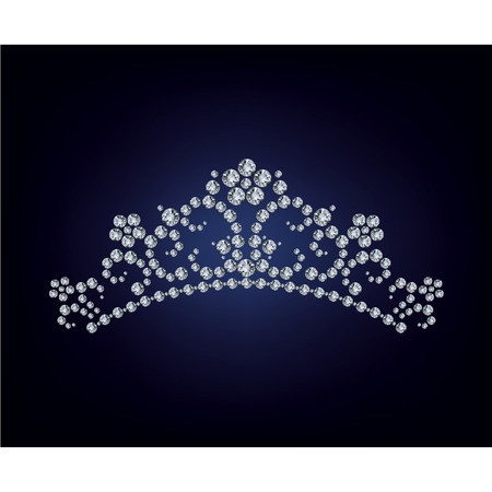 diadema: Tiara de diamantes Vectores