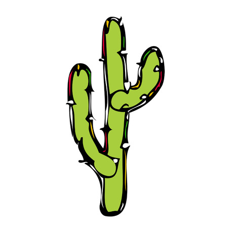 southwest: Cactus Vector Illustration