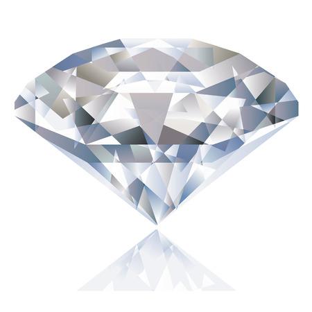 Een glanzende heldere diamant. Vector