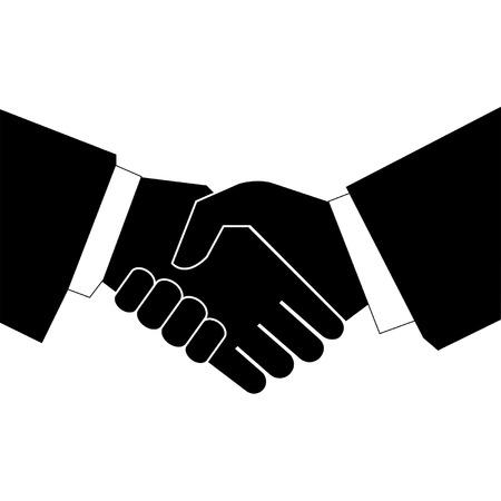 saludo de manos: apret�n de manos de negocios - vector  Vectores