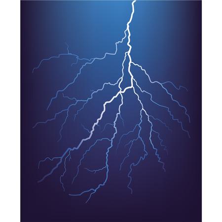 blitz symbol: Gewitterblitz in der Nacht. Vector.