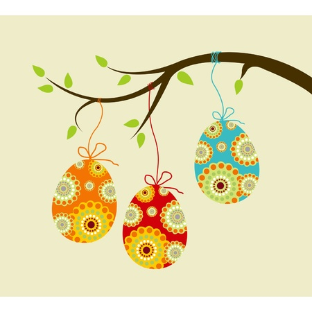 Hanging easter eggs Stock Vector - 9295669