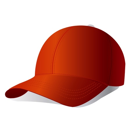 hat with visor: Vector baseball cap