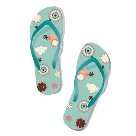 flip flop: Pair of flip flops. Vector.