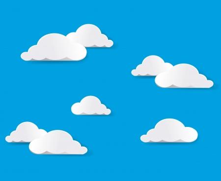 in clouds: Nuvole bianche. Vettore.