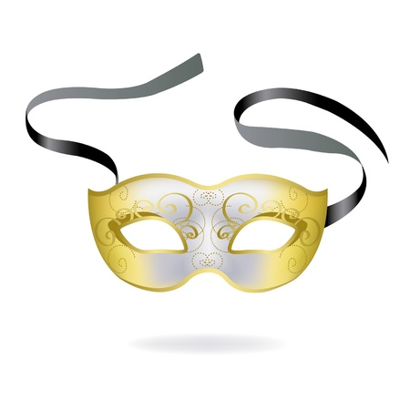 decoration decorative disguise: Venetian Carnival mask. Vector illustration.