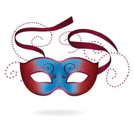 theatrical: Venetian Carnival mask. Vector illustration. Illustration