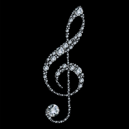 violinschl�ssel: Diamant-Violinschl�ssel