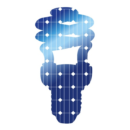 The energy-efficient lamp with solar panels texture Vector