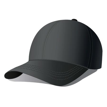 ふだん着: 野球帽のイラスト。