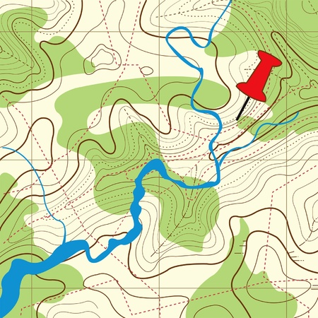 Abstract topographical map Illustration