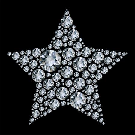 gemstones: Star in diamonds. Illustration