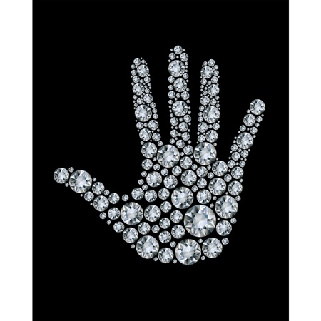 millionaire: Hand made from diamonds. Illustration