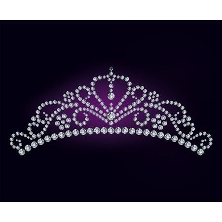 heart and crown: Tiara diamante - illustrazione vettoriale