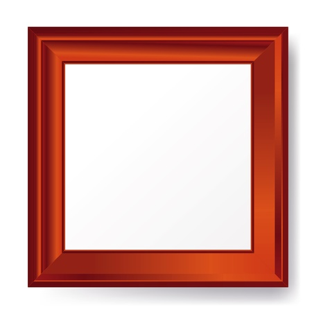 silver picture frame: empty photo frame - vector