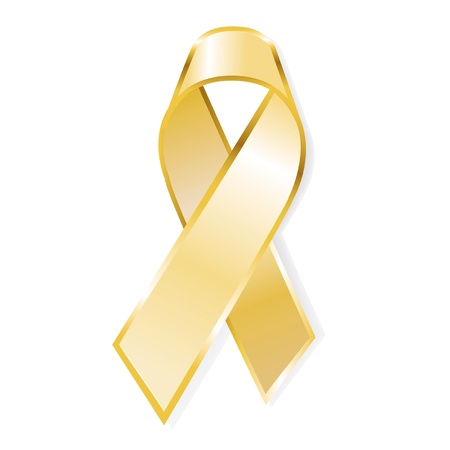 yelow: Aids awareness yelow ribbon isolated on white background