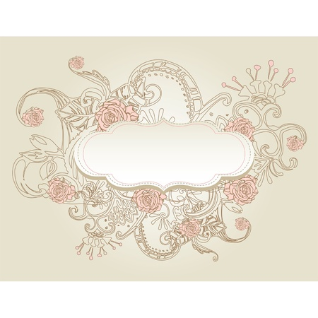 Vintage style background with flowers  Stock Vector - 11252101