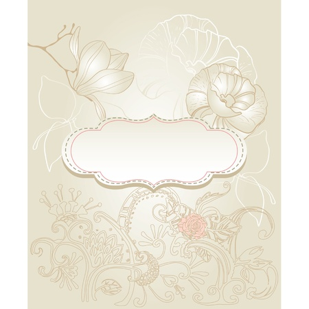 Background with flowers vintage style Stock Vector - 11252104