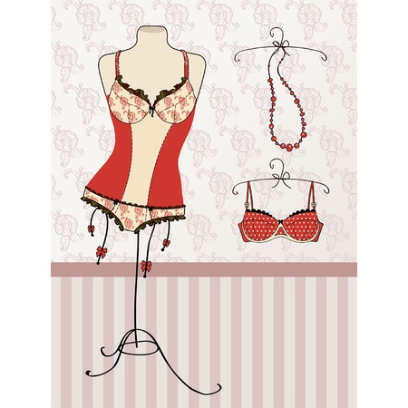 sensuality: Vintage corset and bra