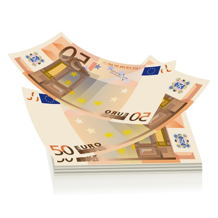european exchange: flying euro bills, the concept of success