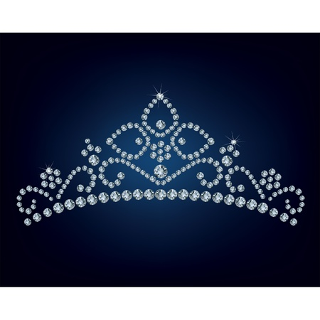 Diamond tiara - vector illustration  Vector