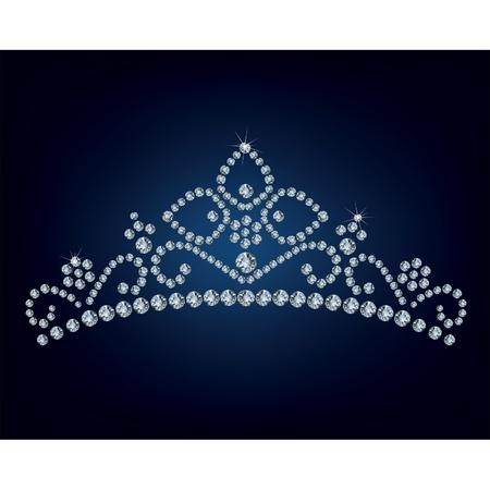 diadema: Tiara del diamante - ilustraci�n vectorial Vectores