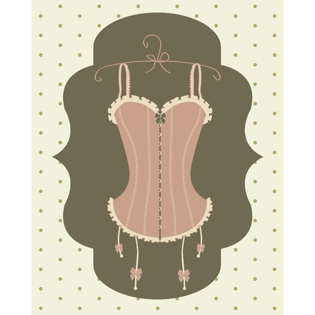 sexy vintage corset Illustration