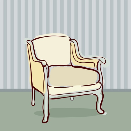 Antique Chair retro style  Vector