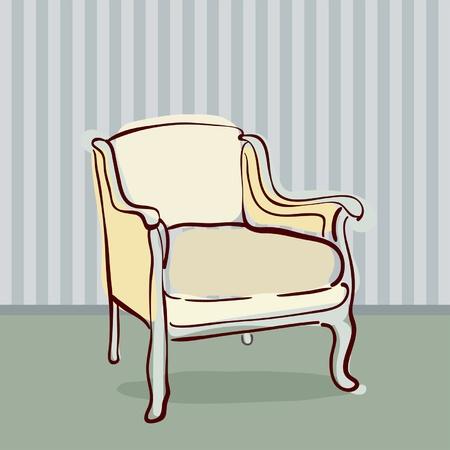 antique chair: Antique Chair retro style  Illustration