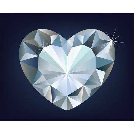 coeur diamant: Vecteur brillant diamant coeur