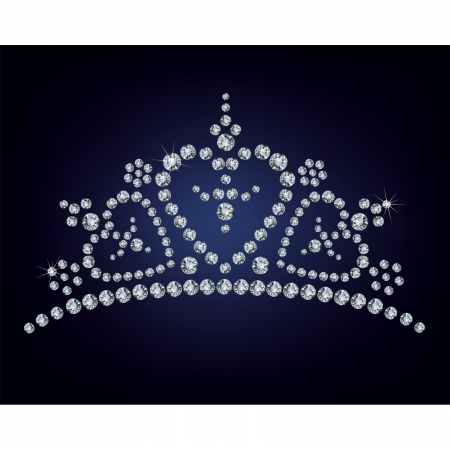 diamond shaped: Diamond tiara Illustration