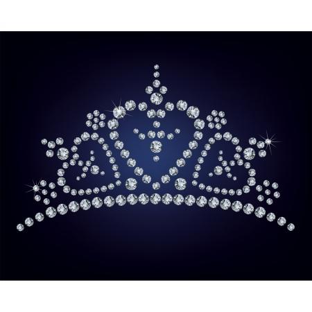 miss: Diamond tiara Illustration