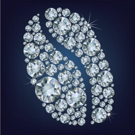 chicchi di caff�: Chicchi di caff� a base di diamanti. illustrazione vettoriale