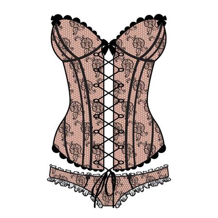 Guipure corset sexy de la dame Banque d'images - 28069199