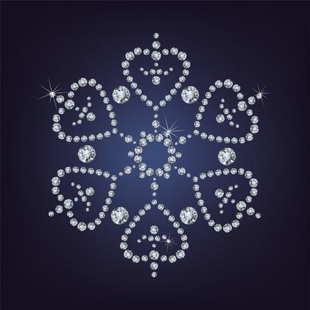 fiambres: Copo de nieve de diamantes ilustraci�n