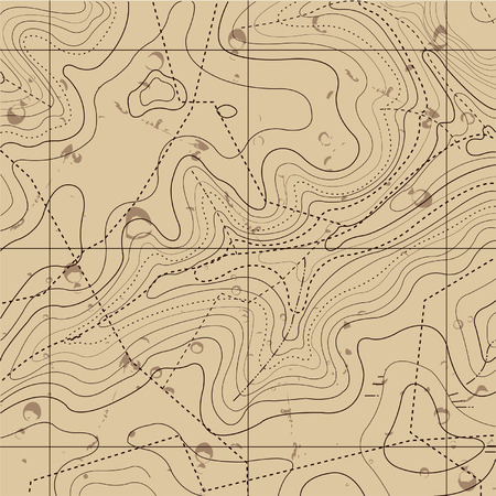 topographic: Abstract Retro Topography map Background